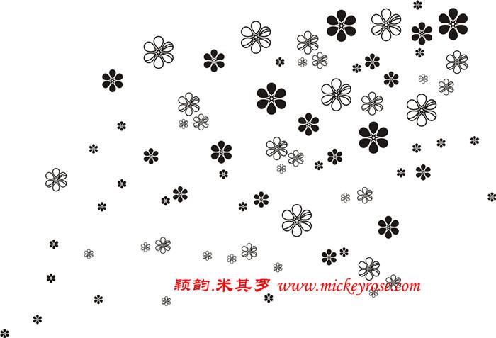 【ls78】六瓣花矢量图