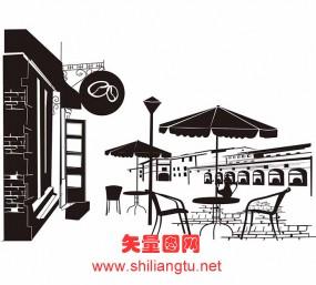 【C-0117】咖啡厅矢量图