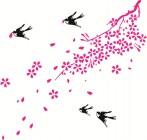 【KT-2172】树藤燕子矢量图