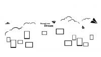 【XD-24-02】照片墙海鸥矢量图