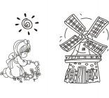 【Y5-E071】风车矢量图