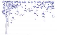 【V-DSQ-58】树和照片墙矢量图