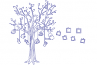 【V-KT-61】树和照片墙矢量图