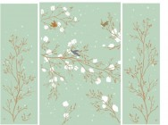 【YSQ-116】花鸟图 树藤和小鸟矢量图