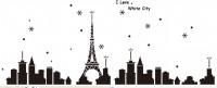 【SFQ-028】铁塔和雪花和英文矢量图
