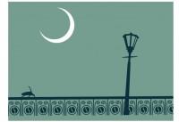 【ETF-095】路灯和月亮矢量图