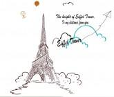 【BO-KT-030】铁塔和气球和英文矢量图