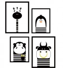 【BO-KT-033】卡通动物照片墙矢量图