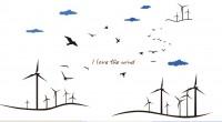 【BO-KT-018】风车和love矢量图