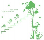 【BO-WS-035】小猴身高和小狗爬楼梯矢量图
