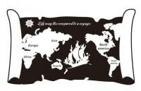 【MS-WS-004】书卷式世界地图英文矢量图