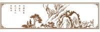 【YY-KTSF-011】迎客松和边框矢量图