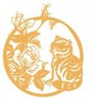 【YY-SFXG-033】猫和牡丹矢量图
