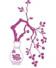 【CTP-015】花瓶 三瓣花 矢量图