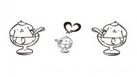 【CTP-037】心形 杯子 矢量图