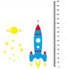 【ETP-082】火箭 飞船 星星 身高尺 矢量图