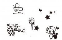 【ETP-086】星星 足球 收音机 矢量图
