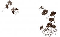 【YY-KT-255】蝴蝶花藤对花 矢量图