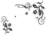 【YY-KT-193】七瓣花藤对花矢量图