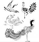 【YY-KT-337】孔雀 火烈鸟 矢量图