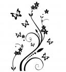 【YY-KT-403】蝴蝶单花矢量图