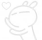 【YY-KT-442】贱小颜 爱心 卡通 矢量图