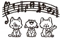 【YY-KT-473】猫咪唱歌矢量图