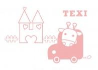 【YY-B017】城堡 小汽车 texi 矢量图