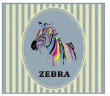 【YY-B078】骏马 zebra 矢量图