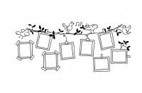 【YY-BO15-2】小鸟照片墙 矢量图