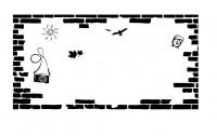 【YY-BS09-2】砖艺 太阳 树叶 矢量图