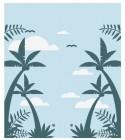 【YY-DZH15-1】椰树 白云 矢量图