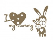 【YY-G119】心形 动物 my mommy 矢量图