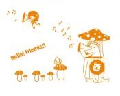 【YY-G109】hello friends 蘑菇 音符  矢量图