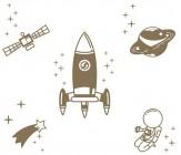 【YY-G137】火箭 飞船 宇航员 卫星 矢量图