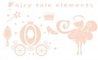 【YY-G150】仙女 高跟鞋 皇冠  矢量图