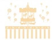 【YY-G140】旋转木马 糖果 墙裙 矢量图