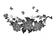 【YY-OS15】蝴蝶 牡丹 矢量图