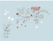 【YY-XD15】心形对花 矢量图