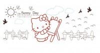 【KT-3006】猫 sunny day  矢量图