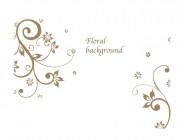 【KT-3011】七瓣花 floral backround 矢量图