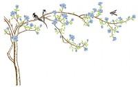 【KT-3046】玉兰花 喜鹊  矢量图