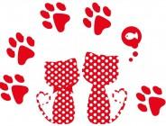 【KT-3009】猫咪 脚印 矢量图