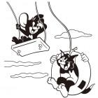 【KT-3054】猫和老鼠 矢量图