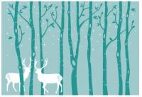 【KT-3125】鹿 树 矢量图