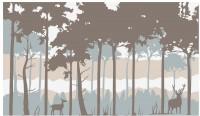 【KT-2585】鹿 树  矢量图