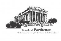 【KT-2557】建筑 parthenon 矢量图