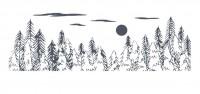 【KT-2528】雪山 树 矢量图