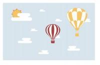【KT-2634】气球 白云 太阳  矢量图