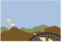 【KT-2674】山水 月亮 祥云  矢量图